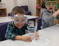 kids wearing safety goggles